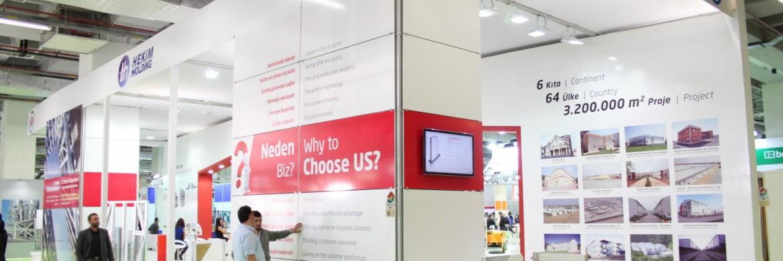 La société Prefabrik Yapı A.Ş. a rencontré un franc succès par sa nouvelle technologie au 36ième Salon de la Construction à İstanbul
