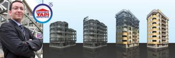 Hangars Géants et des Immeubles  en acier léger de  8 étages