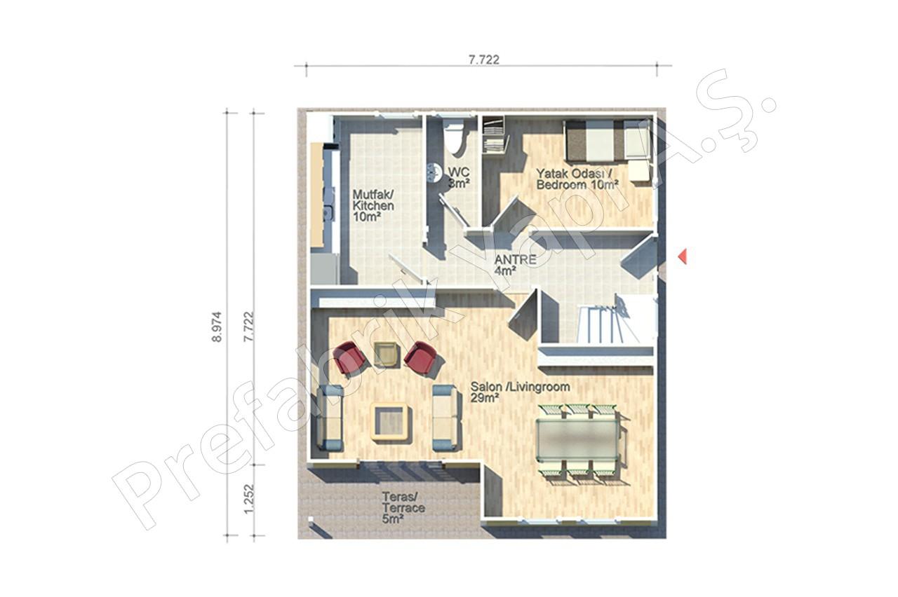 Abant 140 m2 for Plan maison etage 140 m2