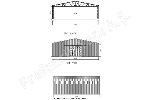 Structures d'acier 225 m2