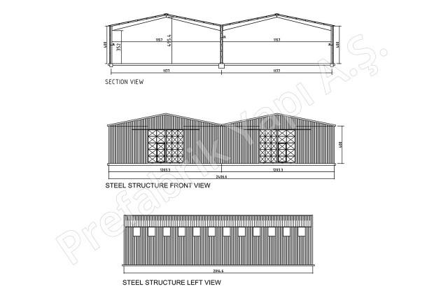 Structures d'acier 500 m2