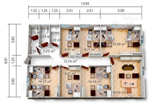 PRO 124 m2 Plan