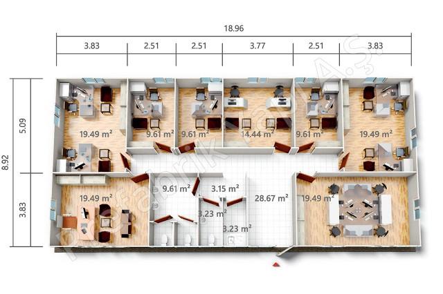 PRO 169 m2 Plan