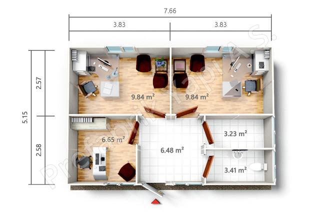 PRO 39 m2 Plan