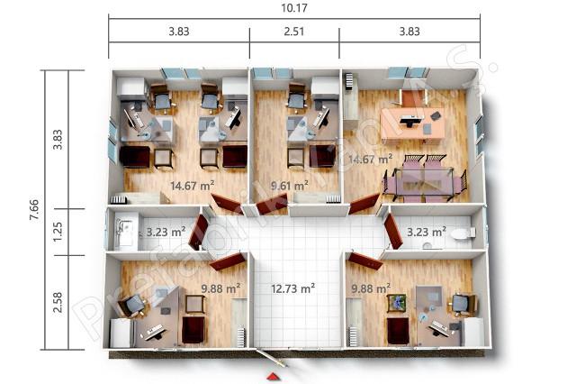 PRO 78 m2 Plan