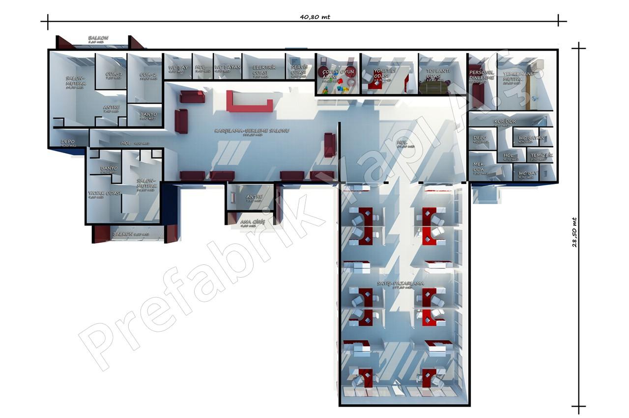 Bureau des ventes 645 m2