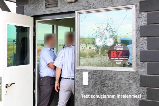 Cabine blindée de sécurité balistique test