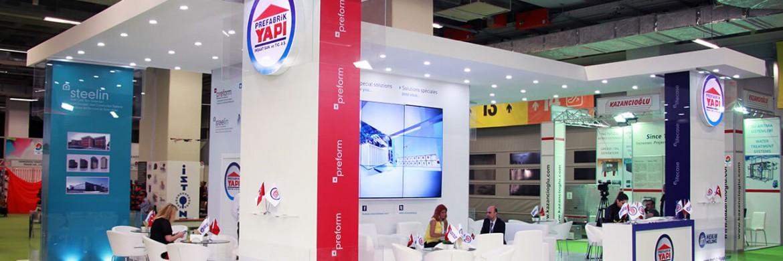 Nous avons pris notre place au 39. Salon de Bâtiment et de construction d'İstanbul